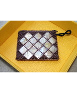 Mother of pearl beaded wallet coin purse brand new - $24.99