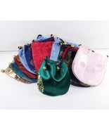 6 Jewelry Pouches Gift Bags Round Synthetic Sil... - $6.49