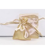 10 Jewelry Pouches Gift Bags 5 X 8 Gold Satin D... - $11.99