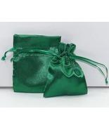 10 Jewelry Pouches Gift Bags 5 X 8 Emerald Sati... - $11.99