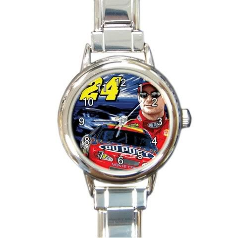 Buy charmwatches - New JEFF GORDON NASCAR Italian Charm Watches Collectors