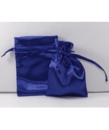 10 Jewelry Pouches Gift Bags 5X8 Royal Satin Dr... - $11.99