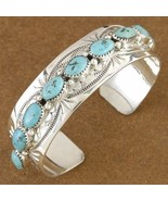 Genuine Native American Turquoise Sterling Silv... - $427.57