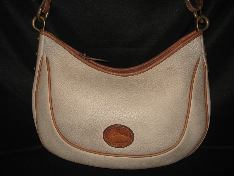 Dooney_and_bourke_leather_handbag_purse_bag_ivory_vintage