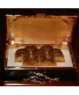 Gold Toned Coin Box Holds 13 Collectible Coins ... - $15.83