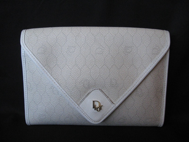 CHRISTIAN DIOR Handbag Purse Clutch Monogram Vintage France Authentic