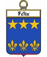 FELIX French Coat of Arms Print FELIX Family Crest - $25.00
