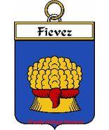 FIEVEZ French Coat of Arms Print FIEVEZ Family ... - $25.00