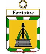 FONTAINE French Coat of Arms Print FONTAINE Fam... - $25.00