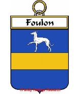 FOULON French Coat of Arms Print FOULON Family ... - $25.00