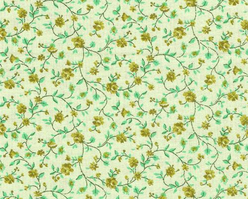 """Quilters Calico"" Green Floral quilting fabric yard"