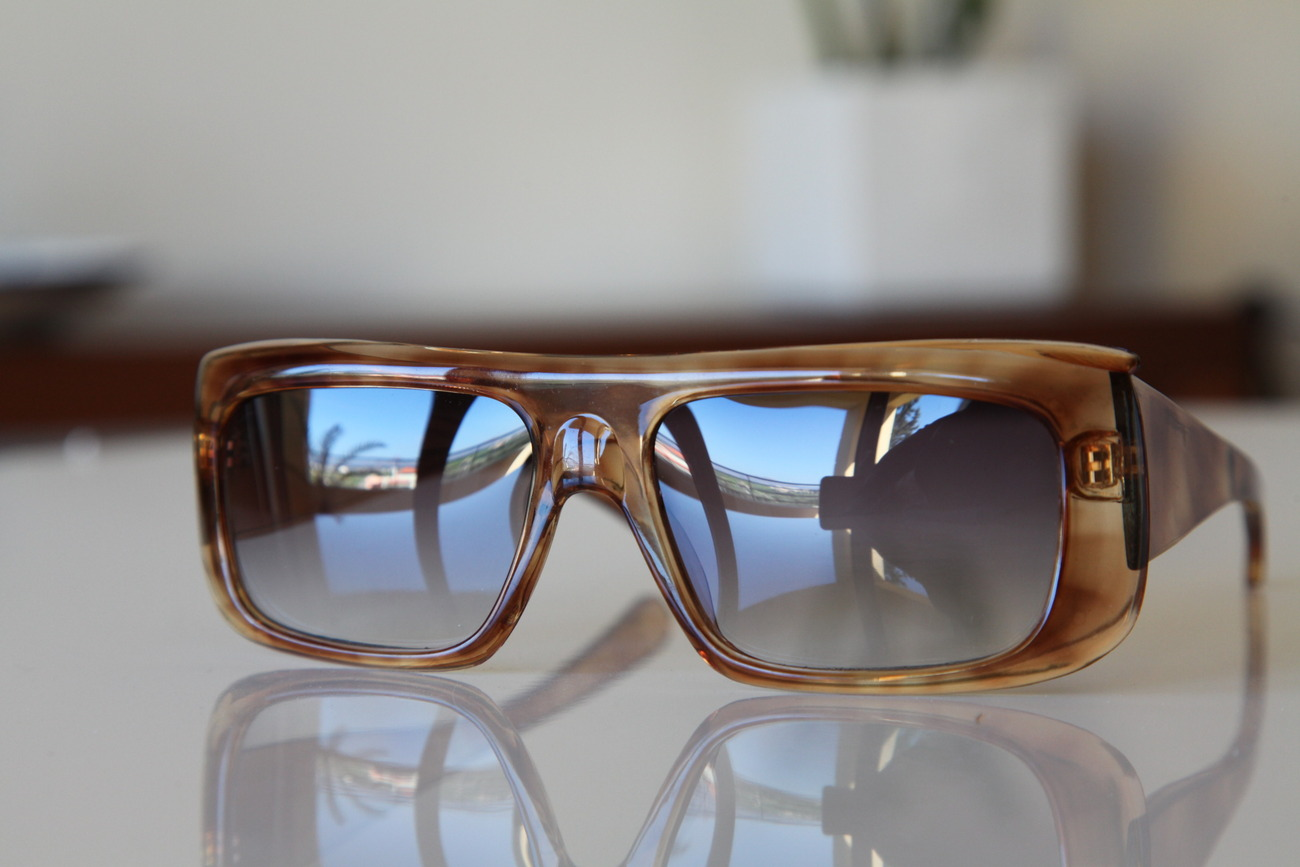 Classic Tortoise Sunglasses. Golden Tawny Frame/ Gradient Dark Lenses