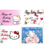Hello Kitty Custom Cake Topper Frosting Sheet - $7.99