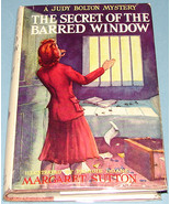 Judy Bolton #16 The Secret of the Barred Window 1943 DJ