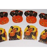 Vintage HALLOWEEN Gift Stamps - WITCHES & PUMPKINS - $9.00