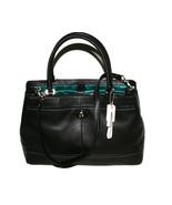 Coach Park Leather Carryall Handbag Black Silve... - $259.99