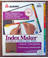 NEW Avery Index Maker White Dividers Multicolor... - $8.99