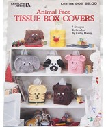 Animal Face Tissue Box Covers Crochet Pattern L... - $9.45