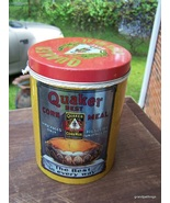QUAKER BEST YELLOW CORN MEAL Round Tin by CHEI... - $45.00