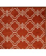 Brand New Pottery Barn SCROLL TILE ORANGE Persian Style Area Rug Carpet 8X10 - $449.00
