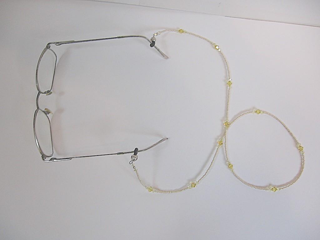 Eyeglass Frames With Swarovski Crystals : Handcrafted Swarovski Crystal Eyeglasses Keeper - Beaded Items