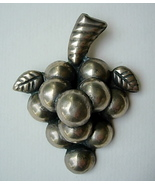 Big Vintage Mexico Sterling Silver Grapes Pin B... - $45.00