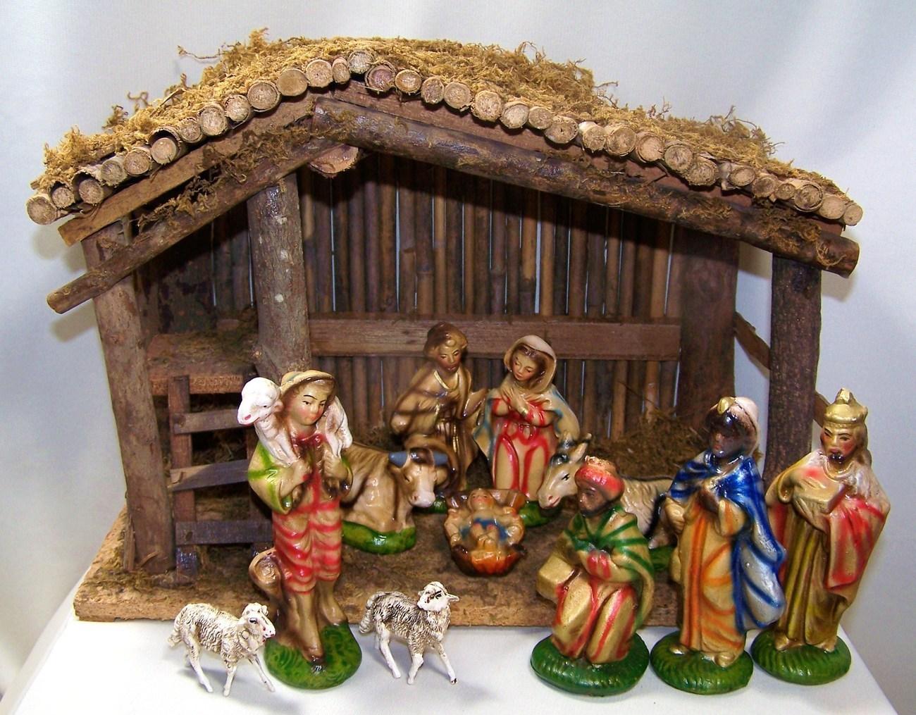Vintage Nativity Set Sears Christmas Nativity Items