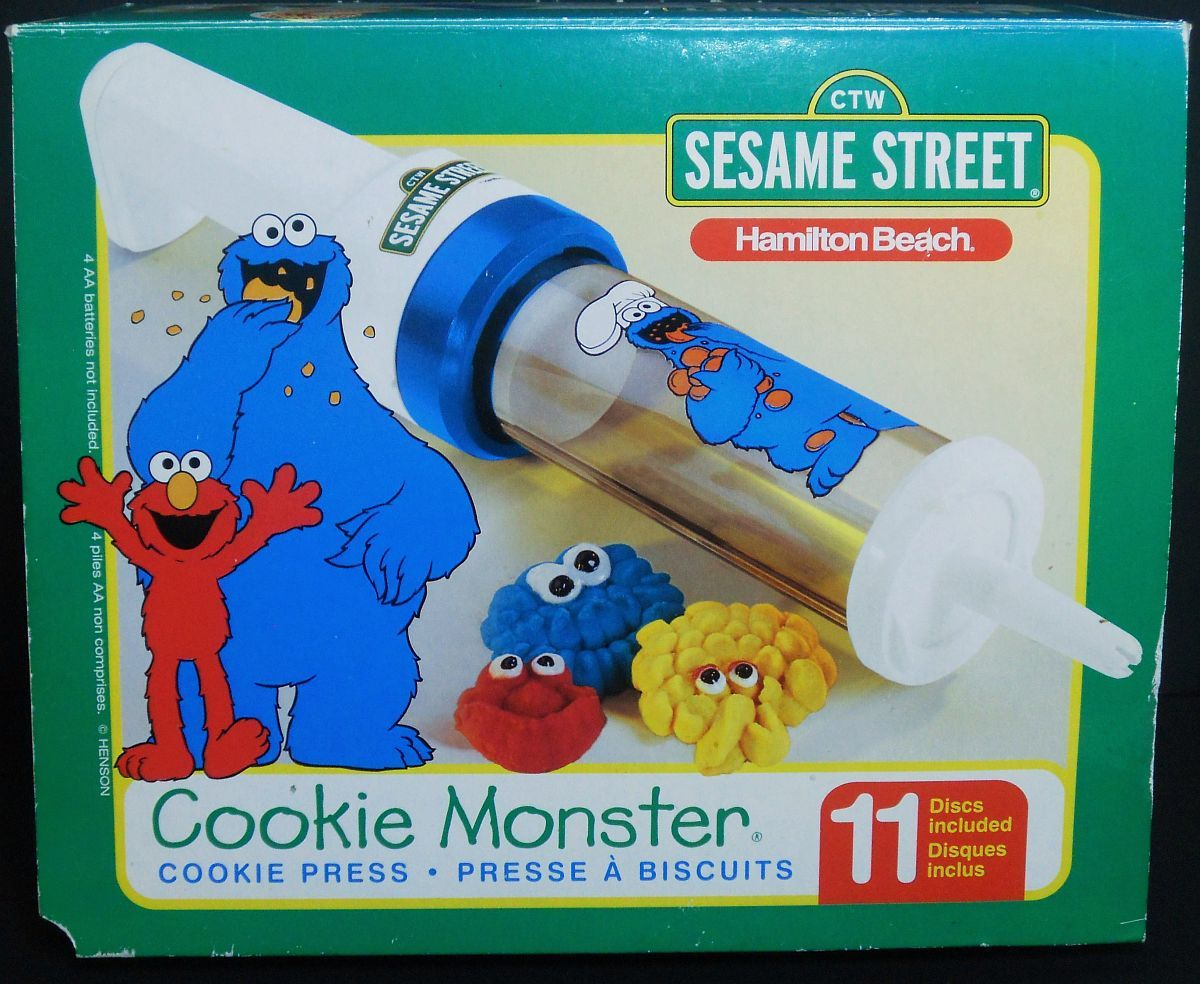 Cookie Press Sesame Street Hamilton Beach  11 cookie discs