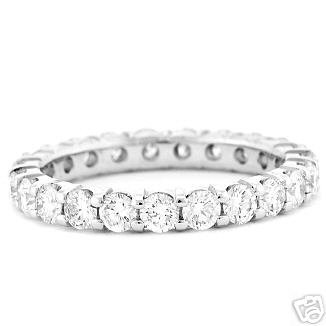 1.75 CT Certified Diamond Eternity Ring Band Gold