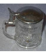 Vintage Leonard Pressed Clear Glass lidded Beer... - $18.00