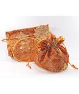 2 Jewlery Pouches Gift Bags Round Melon Orienta... - $6.99