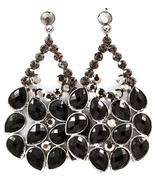 Black Quality Crystal Droplets Earrings 2.5