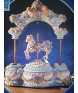 CLASSIC TREASURES MUSICAL ANIMATED HORSE CAROUSEL - $14.00