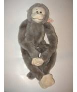Fiesta Hanging Monkey Gray Grey Plush Stuffed A... - $8.99