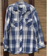 Men's ATB Western Pearl Snap Shirt Size XL 17 x... - $9.99