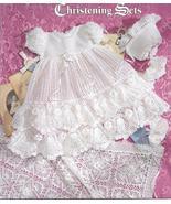 Precious Heirloom Christening Sets~Knit & Croch... - £27.55 GBP