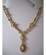 GENUINE AUSTRIAN CRYSTAL JEWELRY SET Gold-tone ... - $10.00