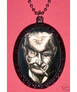 Man's Face Surreal Illusion Necklace Goth Risque - $8.41