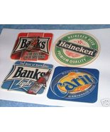 Lot of 4 Coasters Beer Mats from Trinidad, Barb... - $9.99