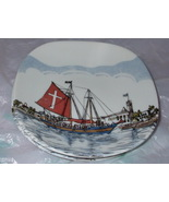 Two Nut Dishes JOLLY ROGER Pirate Ship BARBADOS - $19.99