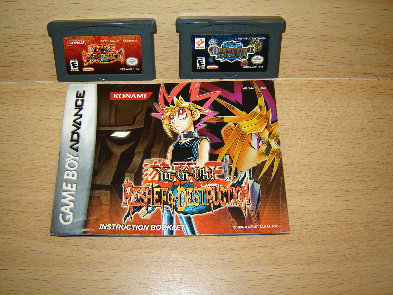 YU-GI-OH! RESHEF & DUNGEON DICE Nintendo Game Boy Advance