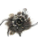 BP06 - 4 inch Stunning Brown Fur Pearls Crystal... - $11.99