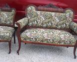 Buy Carved Mahogany Settee & Chair/Parlor Set