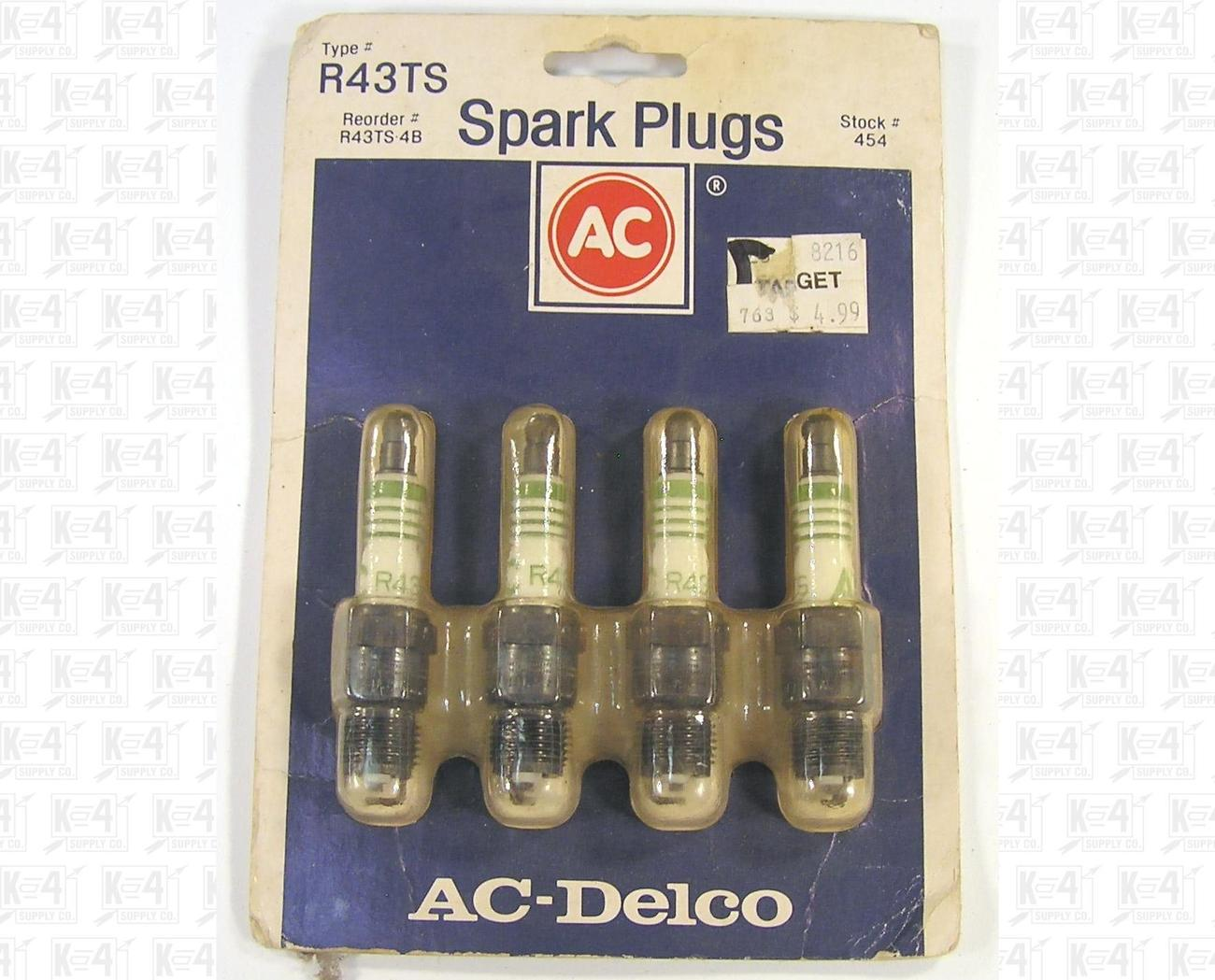 AC-Delco R43TS Spark Plugs Set of Four