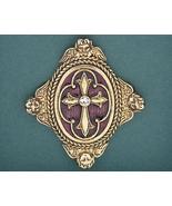 Angel & Cross Pin Brooch Handcrafted Swarovski ... - $24.99
