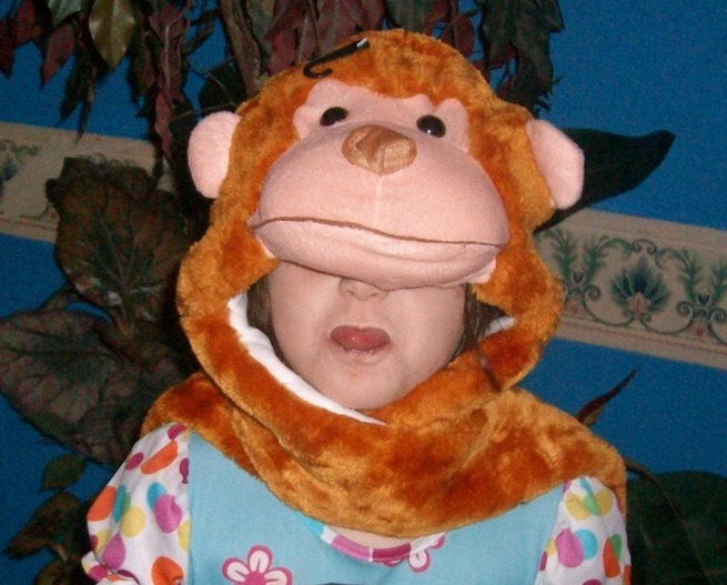 Critter Monkey Cap