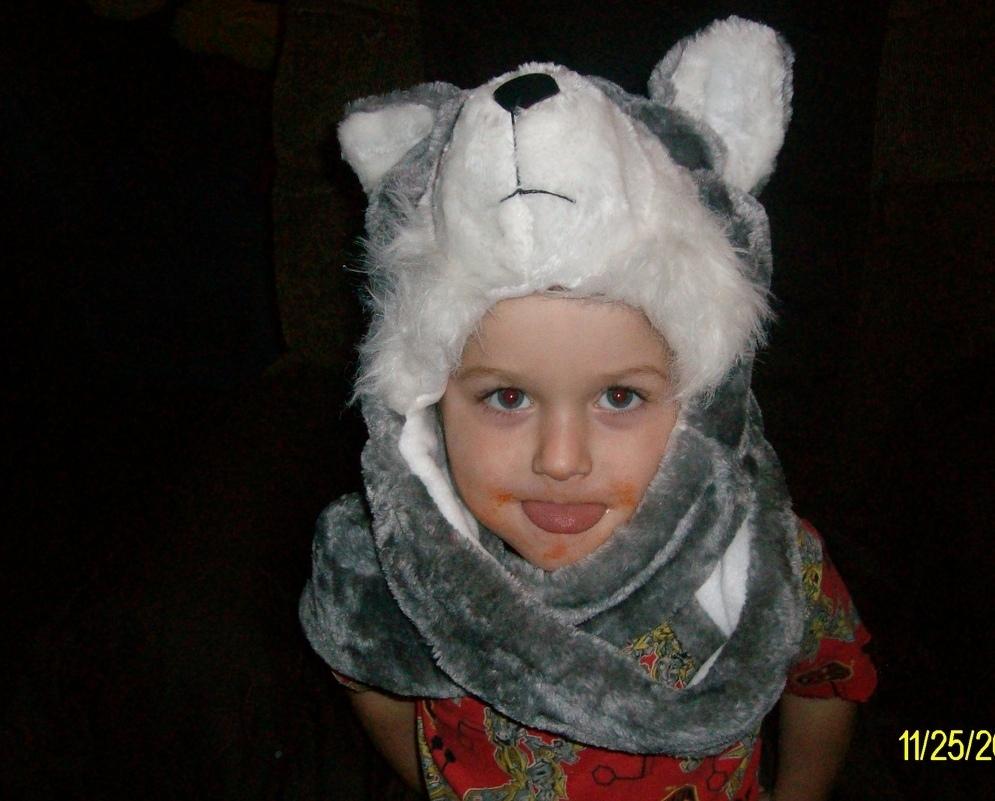 Critter Wolf Cap