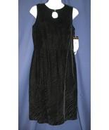 8 P Donna Ricco Black Velvet Sleeveless Cocktai... - $59.99