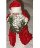 African American Santa  Tree Topper in Velvet - $5.00
