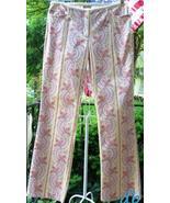 Elevenses PANTS floral PAISLEY stripes YELLOW p... - $40.06
